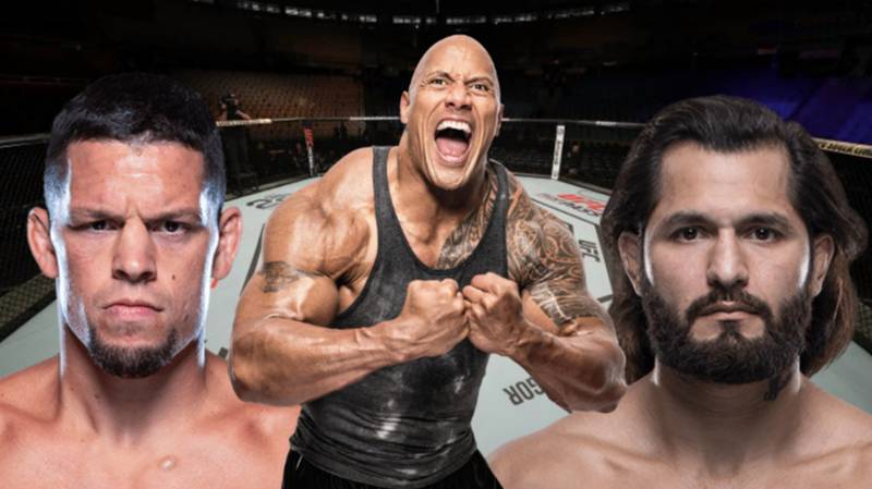 The Rock Is Officially Putting The BMF Belt On Diaz-Masvidal Winner At UFC 244