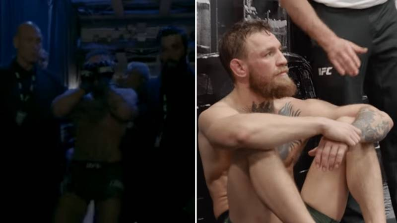 Rare Footage Of An Emotional Conor McGregor Backstage After Khabib Brawl