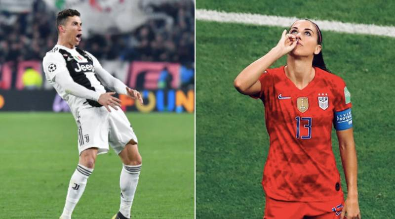 Alex Morgan Calls Out 'Double Standards' Over Cristiano Ronaldo And Diego Simeone's 'Cojones' Celebration