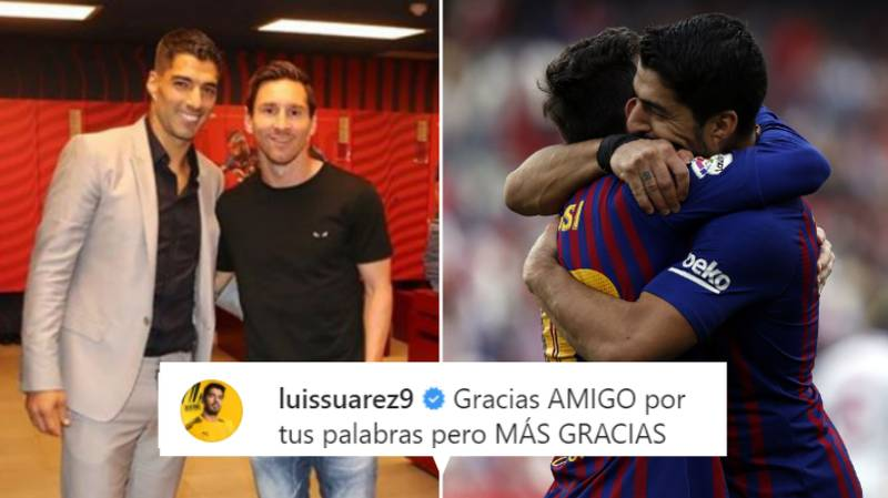 Luis Suarez Replies To Lionel Messi's Instagram Post About His Transfer Away From Barcelona