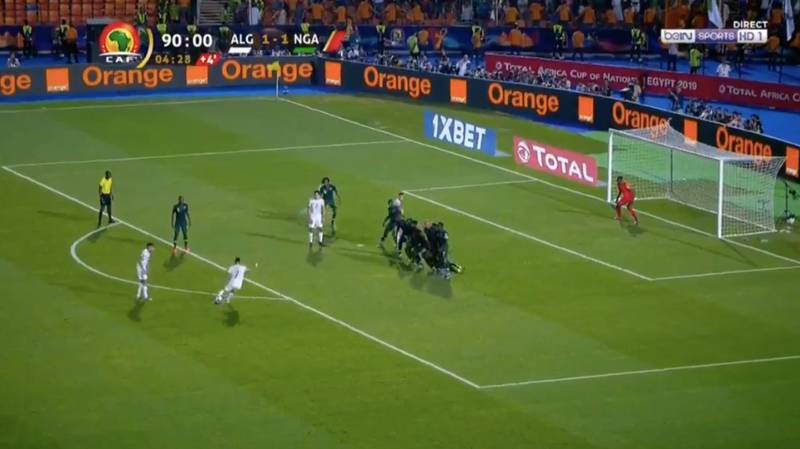 Riyad Mahrez Scores Stunning 95th Minute Free-Kick To Send Algeria Into AFCON Final