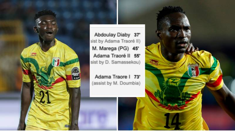 Adama Traore Replaced Adama Traore In Mali vs Mauritania Game, Both Were On The Scoresheet