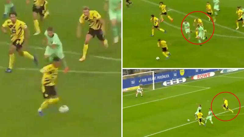 Erling Haaland Shows Off Insane Pace To Score Counter-Attack Goal With Jadon Sancho