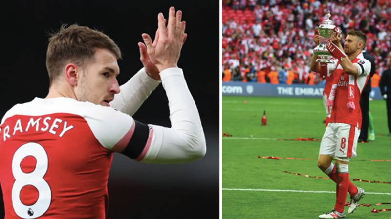 Aaron Ramsey Posts Emotional Message After Playing Final Game For Arsenal