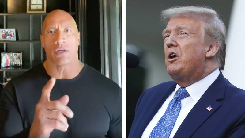 Dwayne 'The Rock' Johnson Delivers Powerful 8 Minute Speech Calling Out Donald Trump