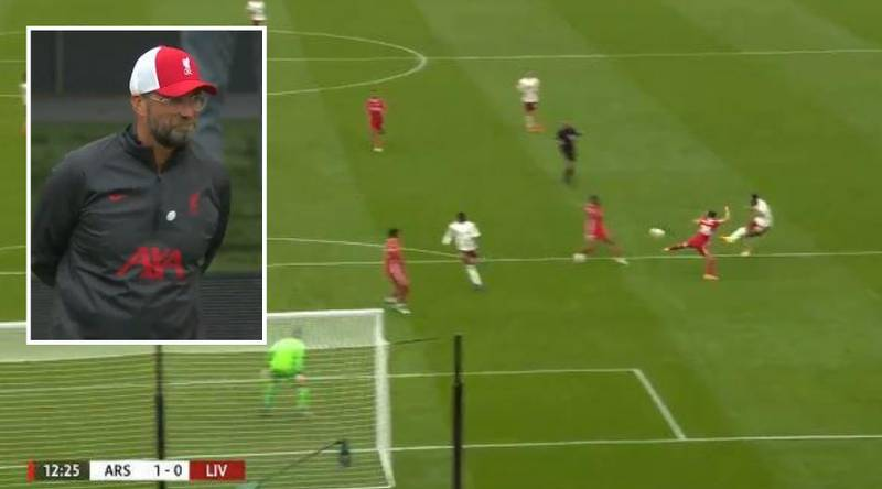 Jurgen Klopp Caught Admiring Pierre-Emerick Aubameyang's Goal Against His Liverpool Side