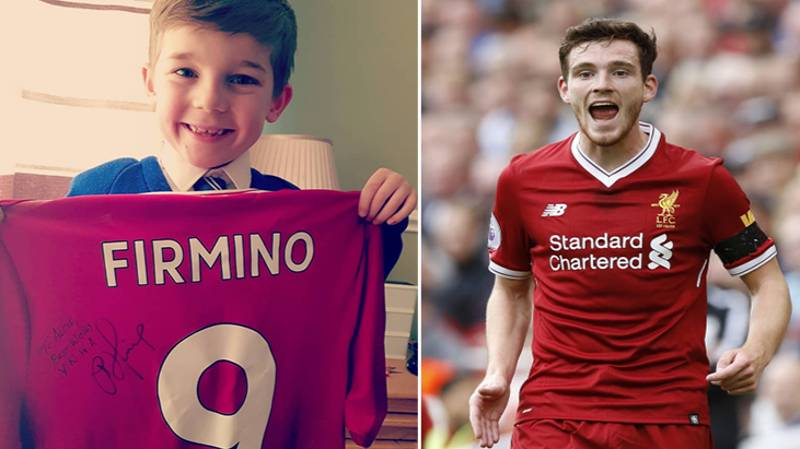 Andrew Robertson Sends Present To Young Fan Who Gave Pocket Money To Charity