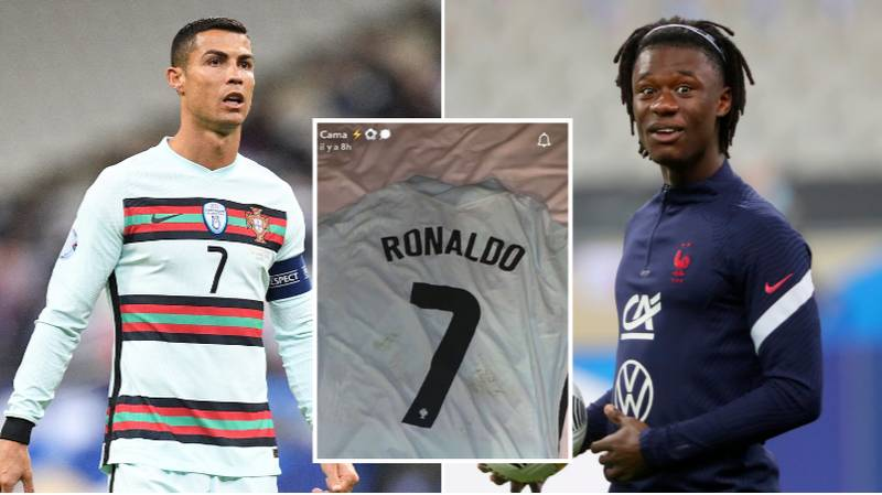 Eduardo Camavinga's Reaction To Getting Cristiano Ronaldo's Shirt Is Genuinely Priceless