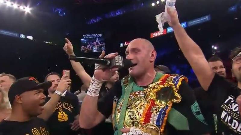 Tyson Fury Sings American Pie After Incredible Win Against Deontay Wilder