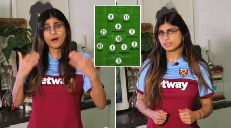 Former Adult Star Mia Khalifa Names Her Premier League Dream Team