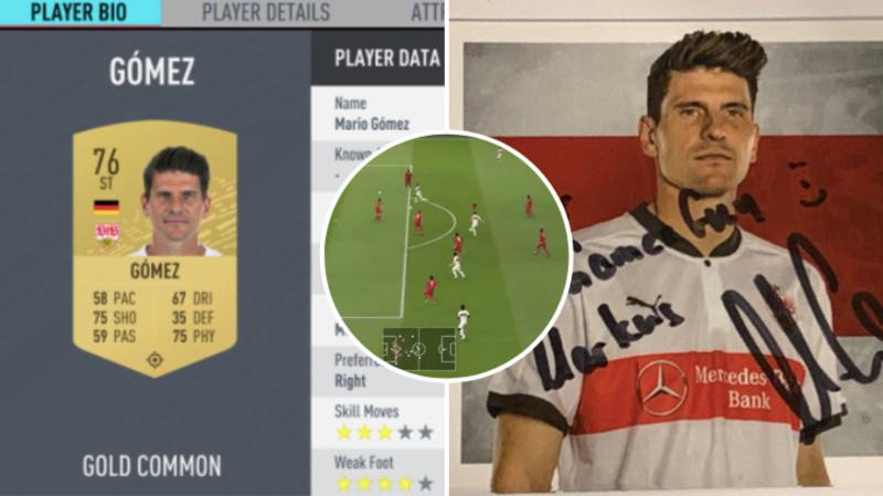 Lad Received Signed Poster From Mario Gomez After Playing 2000 Games With Him On FIFA Ultimate Team