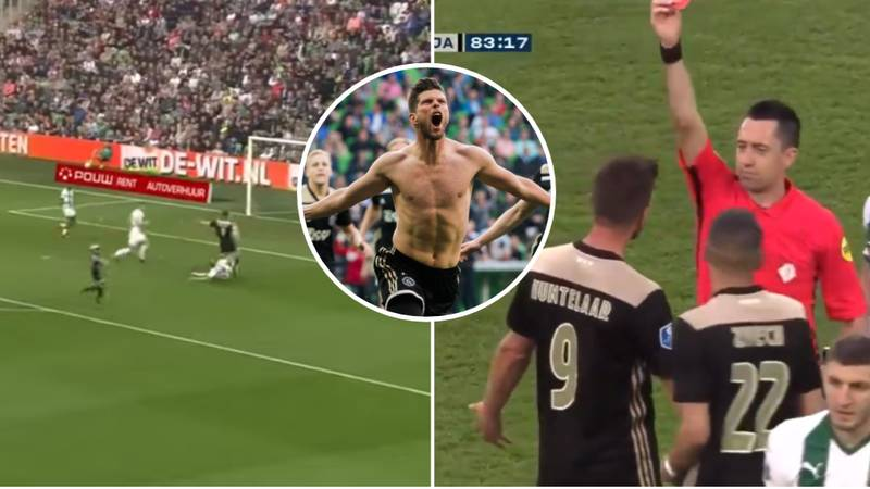 Huntelaar Is The First Man To Be Subbed On, Score And Be Sent Off In A Eredivisie Game