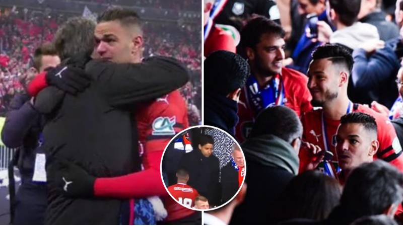 Hatem Ben Arfa In Tears After Helping Rennes Beat Former Club PSG In French Cup Final