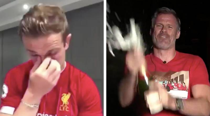 Jamie Carragher's Incredible Celebration After Liverpool Were Crowned Premier League Champions