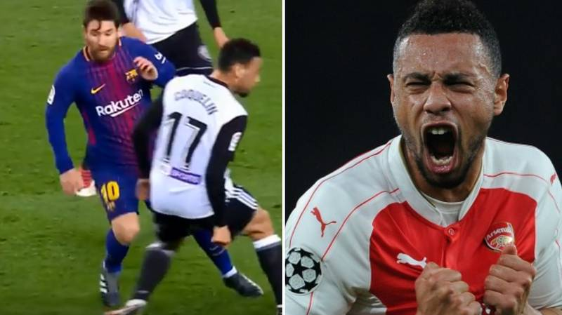 Watch: Lionel Messi Sent Francis Coquelin Back To Arsenal