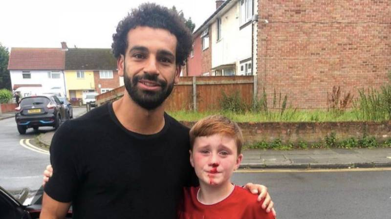 Mohamed Salah Turns Up At Home Of Boy, 11, Who Crashed Into Lamppost Waving At Him