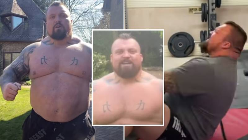 Eddie Hall Shows Off His Remarkable Body Transformation After Doing 100 Sit-Ups A Day