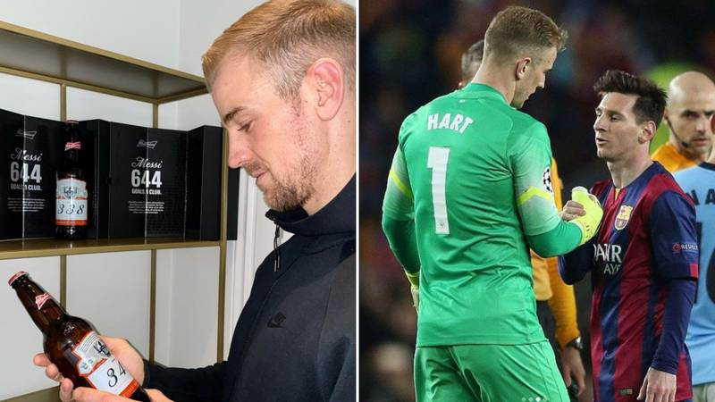 Joe Hart Posts Heartfelt Instagram About Receiving Lionel Messi's Bottles Of Budweiser