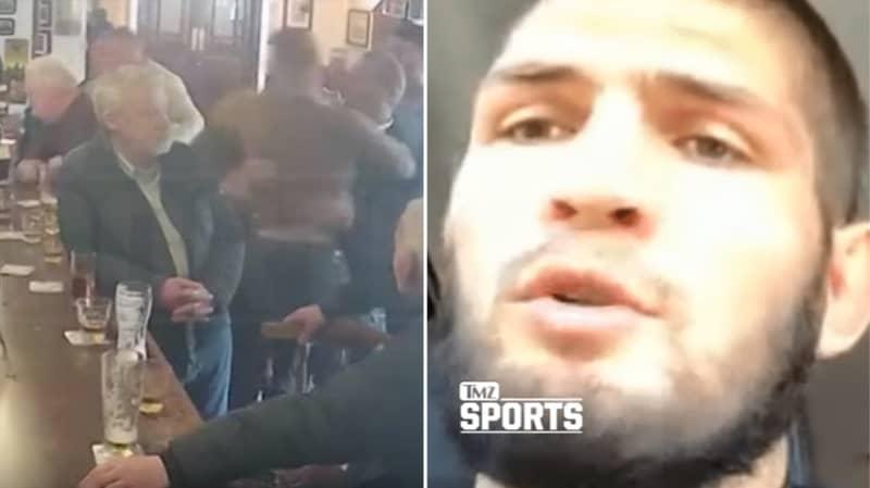 Khabib Nurmagomedov Reacts To Conor McGregor Punching Old Man In Dublin Bar