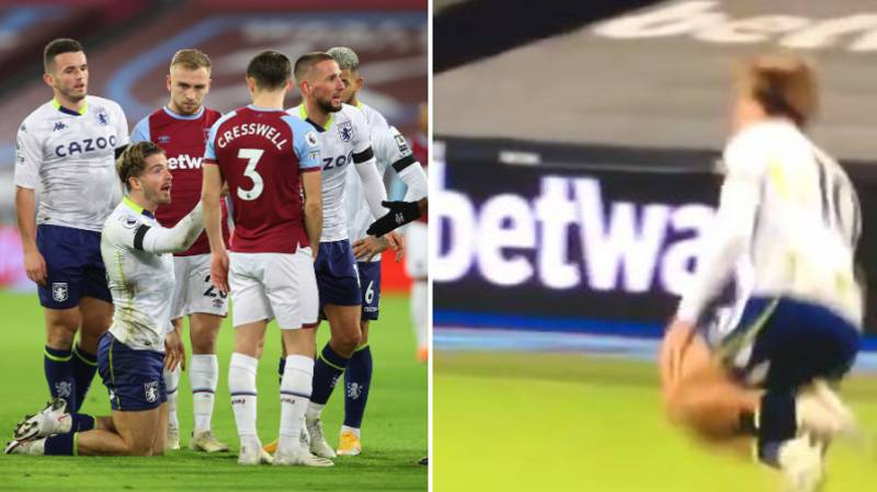 Jack Grealish Accused Of 'Embarrassing' Dive In Aston Villa's Controversial Loss To West Ham