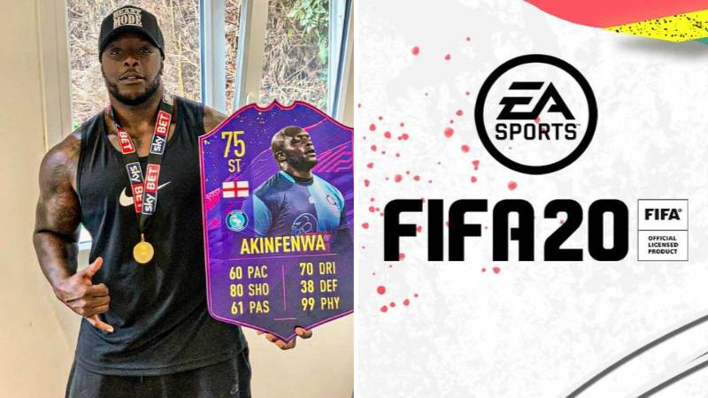 Adebayo Akinfenwa's New FIFA 20 Ultimate Card Has A Ridiculous 99 Physicality