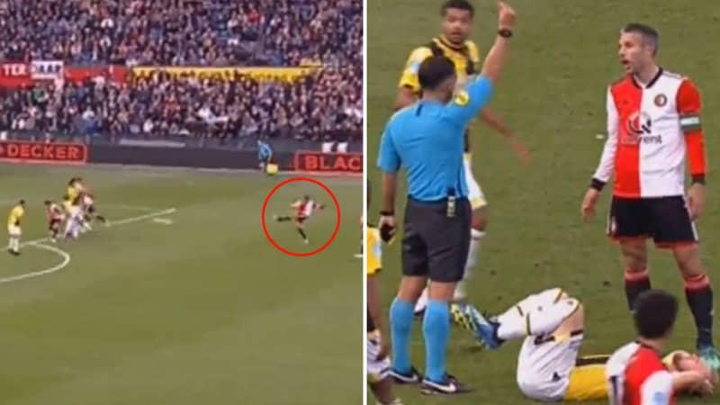 Robin Van Persie Scores Sensational Free-Kick, Gets Sent Off Minutes Later