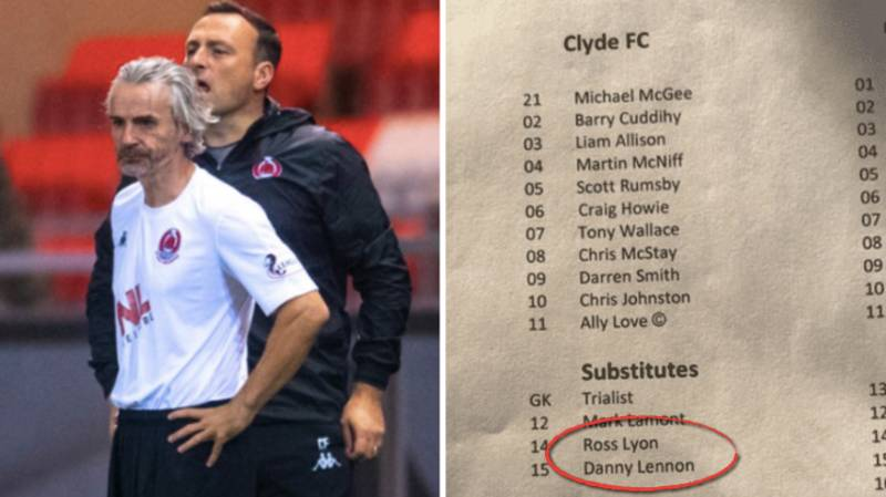 50-Year-Old Manager Danny Lennon Makes Clyde FC Debut After Subbing Himself On Against Celtic