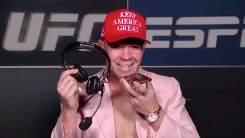 Colby Covington Calls Out 'Woke Athlete LeBron James' Before Ringing Donald Trump on Live TV