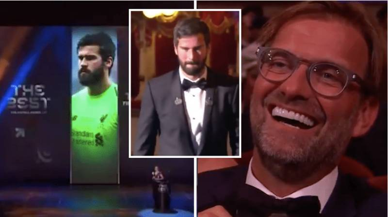 The Moment Alisson Doesn't Realise He's Won The Best Goalkeeper Award Is Priceless