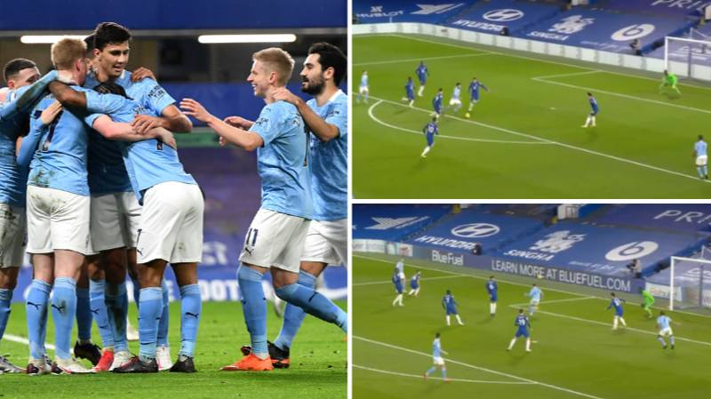 Phil Foden Bodies Kurt Zouma And Ilkay Gundogan Scores Screamer As Man City Blow Away Chelsea In First Half
