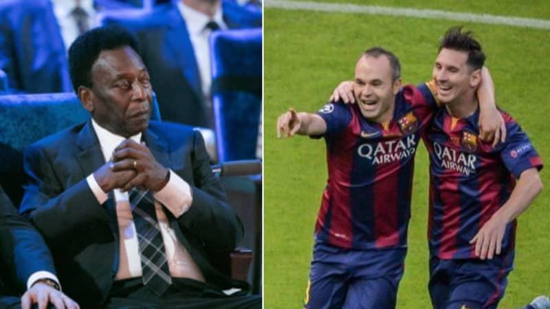 Andres Iniesta Brilliantly Responds To Pele's Criticism Of Lionel Messi