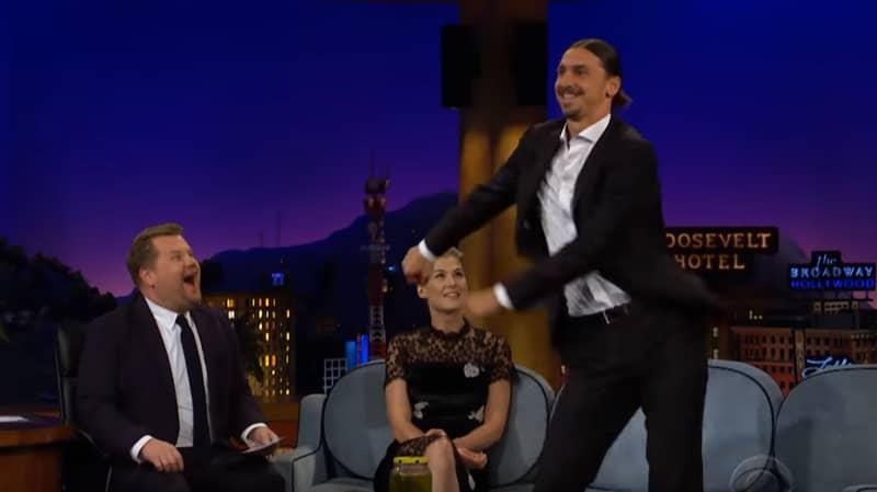 Zlatan Ibrahimovic Teaches James Corden How To Floss On Late Late Show