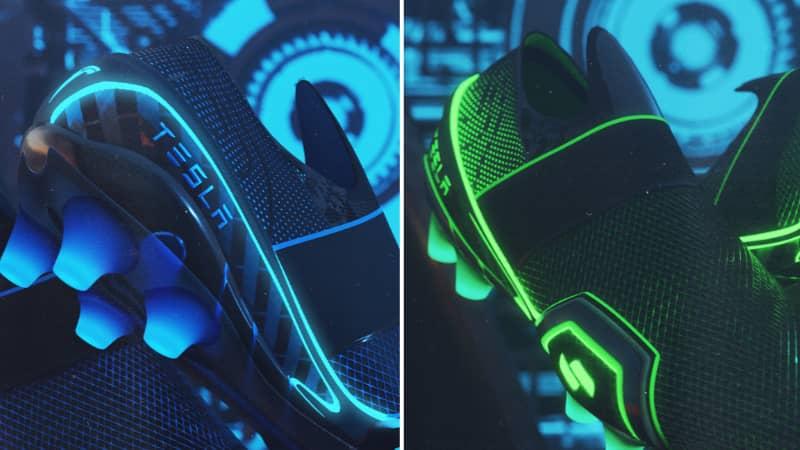 Designer Creates Insane And Futuristic Tesla Football Boots Concept