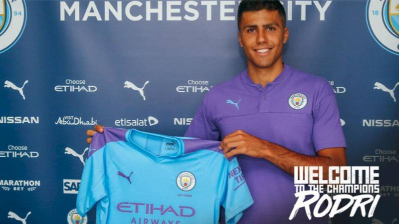 Manchester City Announce Signing Of Midfielder Rodri From Atletico Madrid