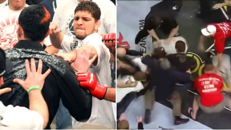 When Nick And Nate Diaz Caused The Biggest Brawl In MMA History