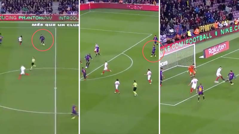 Lionel Messi Scores Barcelona's Sixth Against Sevilla After A Ridiculous Bit Of Tiki-Taka Genius
