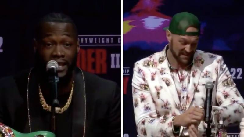 Tyson Fury Had The Perfect Response To Deontay Wilder's Seven Minute Speech