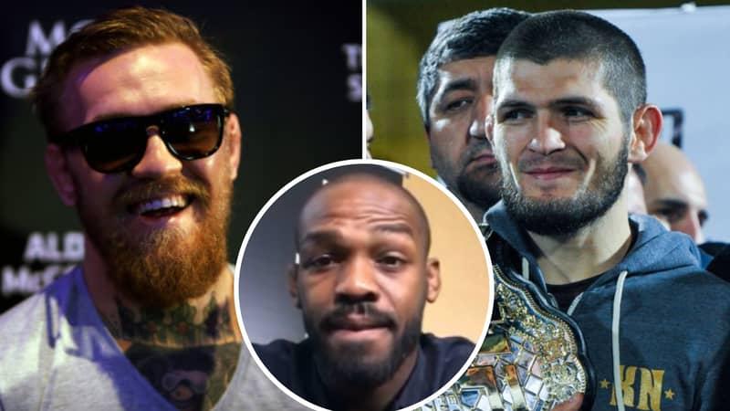 Jon Jones Gives His Prediction For Khabib Nurmagomedov Vs Conor McGregor Rematch