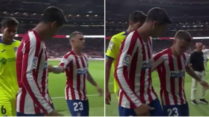 Alvaro Morata Had To Pull Kieran Trippier Away From Walking Over Atletico Madrid's Badge