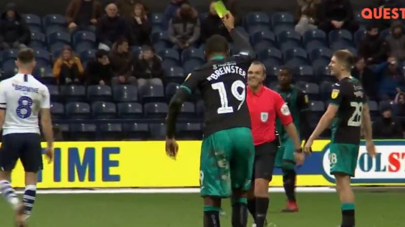 Rhian Brewster Does His Best Paul Gascoigne Impression By Showing Referee Yellow Card