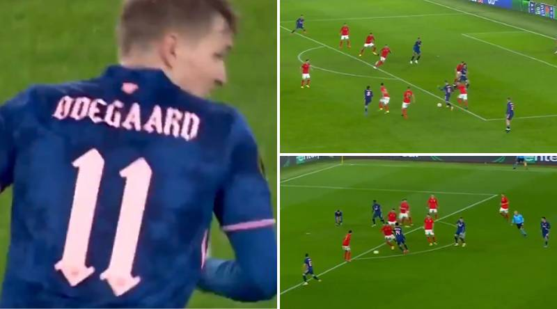 Stunning Martin Odegaard Compilation Vs Benfica 'Proves He Is Mesut Ozil's Heir At Arsenal'