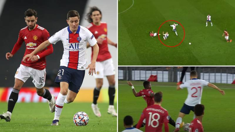 PSG's Ander Herrera Called A 'Snake' By Manchester United Fans For Fred's Red Card