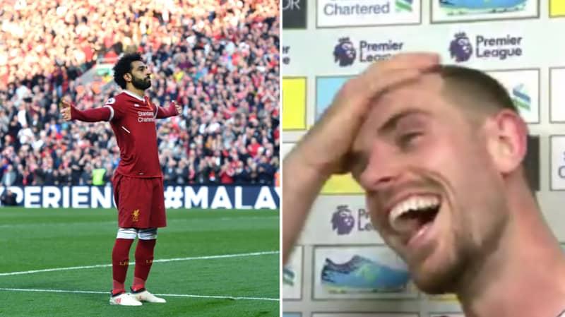 Jordan Henderson Is Really Pleased With Himself After Mo Salah Joke