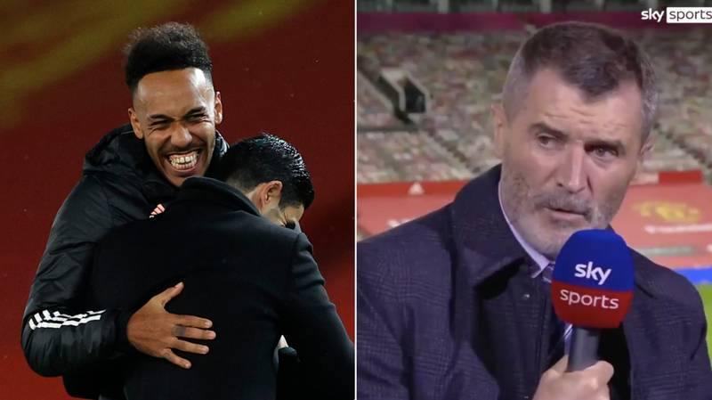 Roy Keane Lays Into Pierre-Emerick Aubameyang For Calling Arsenal Manager Mikel Arteta By His First Name