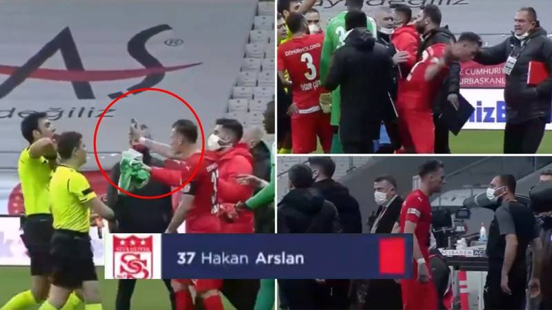 Hakan Arslan Sent Off For Showing Referee An Incorrect Decision On His Phone