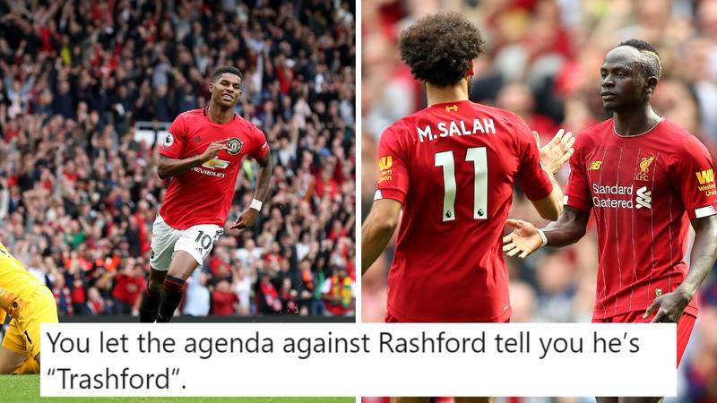 Fan's Tweet Comparing Rashford's Stats This Season To Salah And Mane Goes Viral