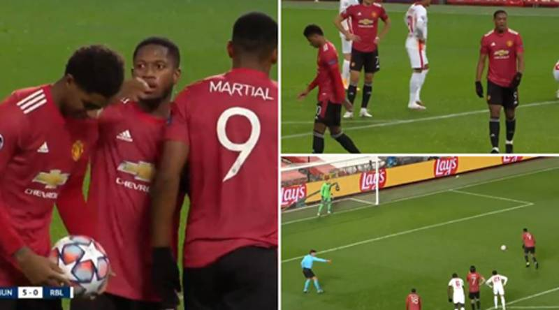 Marcus Rashford Let Anthony Martial Take Penalty Vs RB Leipzig While Being On A Hat-Trick