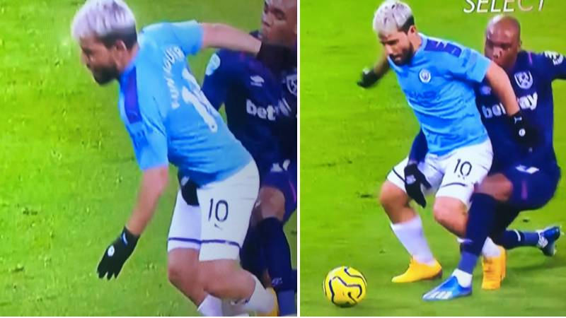 Angelo Ogbonna Grabs Sergio Aguero By The B*lls, Somehow Avoids Giving Away A Penalty