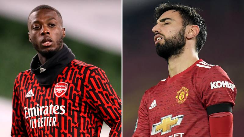 Arsenal Fan Claims Nicolas Pepe Has Been A Better Signing Than Bruno Fernandes In Controversial Twitter Thread