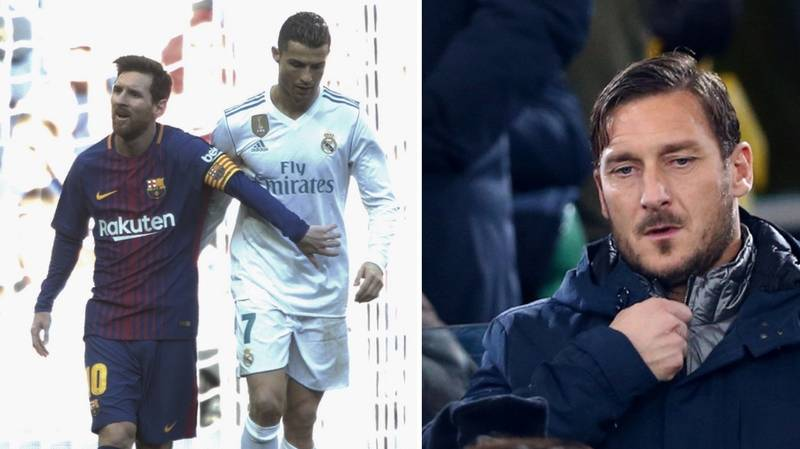 Francesco Totti's Hilarious Response When Asked For His Take On Messi vs Ronaldo